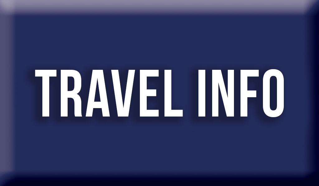 """Blue Button that reads """"Travel Info"""""""